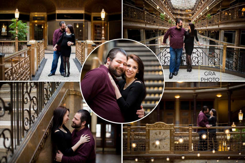 Cleveland Arcade Engagement Session Wedding Photographer Photography East 4th Street